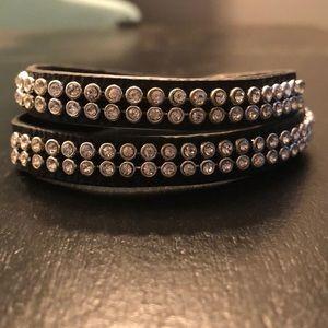 Chloe + Isabel leather studded wrap bracelet